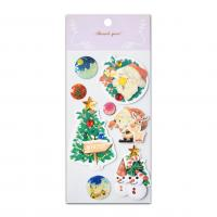 New Christmas Jewel Handmade 3D Stickers With Epoxy Glitter Effect Seasonal Promotion 2017