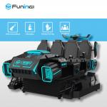 6 Seats 9D Virtual Reality Cinema VR Interactive Game Motion Car With SGS Test