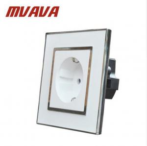 MVAVA Europe Shuko sockets Mirror crystal glass EU German Standard ...