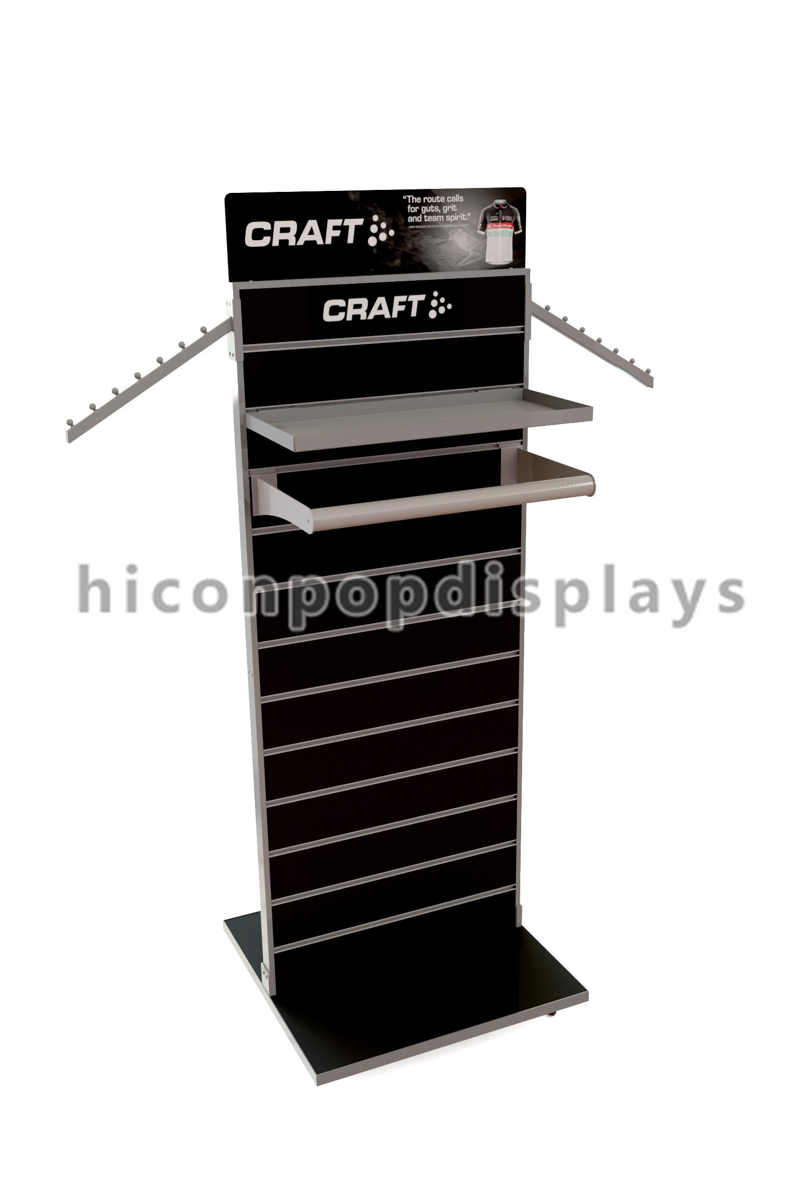 Double Sided Slatwall Display Stands / Slatwall Floor