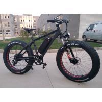 500 Watt Mountain Beach Fat Tire Motorized Bike With Lcd Display , Low Noise