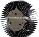 China Round spiral aluminum alloy heat sink, Discounted price extruded large round aluminium heatsink wholesale
