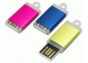 China Promotional Mini USB 2.0 Memory Stick Plastic Push And Pull USB Drives With Small Keyring on sale