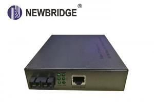 China Industrial 10 100M Media Converter Ethernet To Optical Converter Built In Power on sale