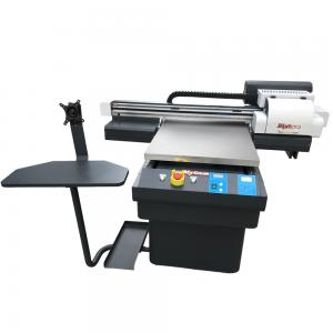 China 6090 flatbed uv printer with varnish digital uv printer with CMYKLCLM+W+V on sale