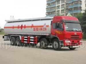 China FAW 8*4 36CBM aluminum alloy chemical liquid tank truck on sale