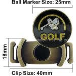 Suporte do fabricante da bola para a sapata do golfe