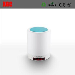 China Romantic Bedroom Night Light Mini Portable Wireless Bluetooth Led speaker With Clock on sale