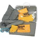 30L universal spill kit, gray color universal absorbent spill kit,emergency spill kit, leakage cleaning kit