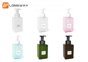 China Durable Square Refillable Cosmetic PETG Bottle For Shower Gel / Cleanser 250ml on sale