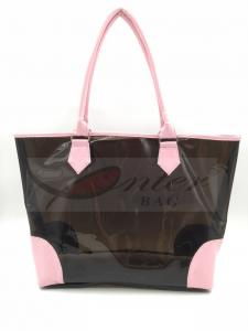 China Fashionable Design Pvc Tote Shopping Bags Black Color 47*30.5*5.5 Cm on sale