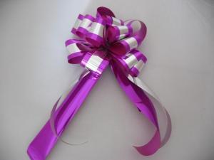 China Custom Printed Gift Wrap Pull Ribbon Bows Christmas Christmas Bows And Ribbon on sale