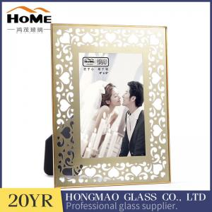 China Vintage Attractive Brass And Glass Picture Frame Customer'S Logo Acceptable on sale