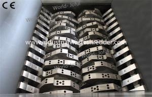 China Twin Shaft Industrial Metal Shredder , Gas Cylinder Metal Chip Shredder on sale