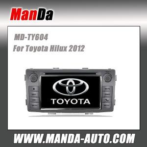 China 2014 car automobiles for Toyota Hilux 2012 in-dash navigation gps car dvd player on sale