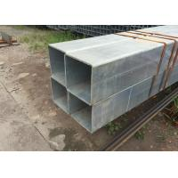 China Hollow Square galvanized Tubing , Square Steel Pipe for Cutting / Bending / Drilling hole on sale