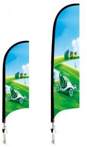 China Custom Strong aluminium poles Single side 70cm width 200cm height Outdoor Flying Flags Banners on sale