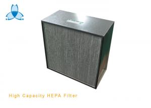 China Galvanized Frame High Capacity HEPA Air Filter With Aluminum Separator H13 Class on sale
