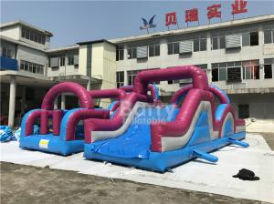 China 0.5mm PVC Material Customized Giant Inflatable Obstacle Course Combo on sale