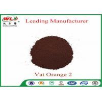 C I Vat Orange 2 Vat Golden Orange 2RT Dye Powder For Cotton Fabric