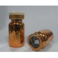 China New product 30ml electroplating gold color Glass dropper bottle for essential oil on sale