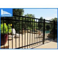 Decorative Wrought Iron Fence Panels 1.8m*2.4m , Powder Coated Steel Fence
