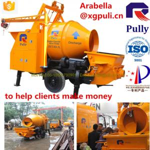 China Concrete Mixer With Pump , Concrete Block Machines 40m3/H Pumping Output on sale