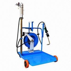 China Mobile Oil Dispenser Platform with Hose Reel and Pump on sale