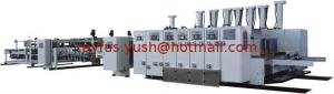 China Automatic Flexo Printer Slotter Die-cutter Folder Gluer Strapper Inline Machine, with PP or PE Strapping on sale