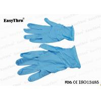 Blue Nitrile Disposable Medical Latex Gloves For Gynecological Examination Surgical