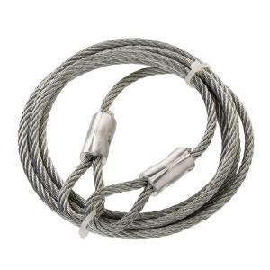 Thimble Hot-Dip Galvanized Steel Braided Wire Rope Slings 1x19 With ...