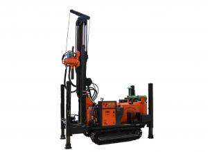 China Crawler Type Truck Mounted Drill Rig , Down The Hole Drilling Water Well Digging Equipment  on sale