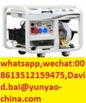 ome Use 2-10KVA Air Cooled Diesel Electric Generator Silent 5KVA AC Single Phase