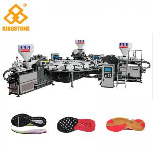 China High Production Rotary PVC/ TPR Shoe Sole Making Machine One / Two / Three Colors on sale