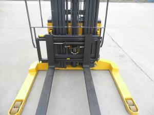 China Customized Warehouse Lift Equipment , Regenerative Braking Walk Behind Pallet Stacker on sale