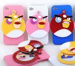 iPhoneのためのミラーのかわいい箱が付いている怒っている鳥のラインストーン4 4s