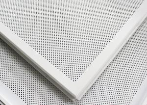 China Soundproof Perforated Lay In Ceiling Tiles Floating / 2x2 Ceiling Panels For hall decoration on sale