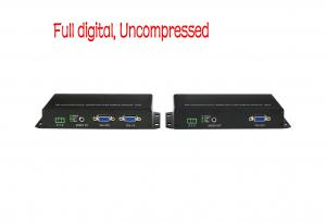 China Audio ,Video Equipments VGA to optical converter 20km extender by fiber cable cables, rs232+IR control on sale