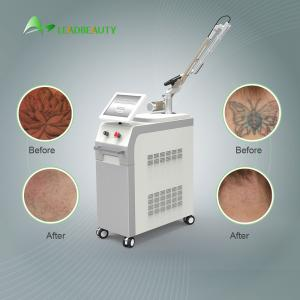 China 1064 / 532nm 1200W  Nd Yag laser tatoo removal machine / pigmentation removal 6ns Pulse Width on sale