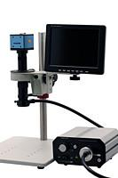 China High Definition CCD Camera Microscope 12V 5A Build - in Measurement Software on sale