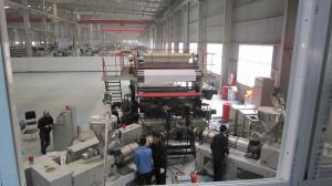 China Flexible PVC Floor Tile Production Line With Siemens Motor Fully Automatic on sale