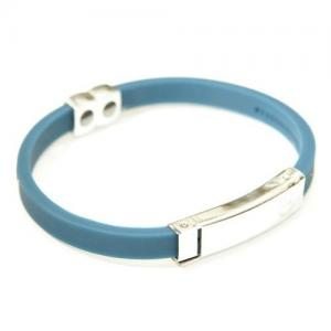 China Germanium Titanium sports silicone bracelet wristbands with stainless steel parts on sale