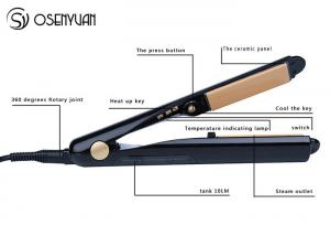China Steam Function Flat Iron Ceramic Hair Straightener Anti - Clogging Technology on sale