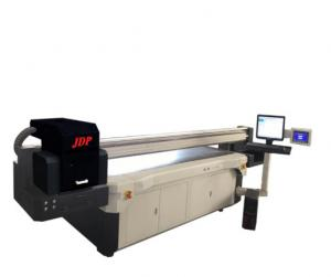 China Easy Operation Flatbed Uv Digital Printer , Large Format Color  Flatbed Printing Machin on sale