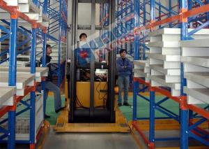 China 300 mm Length Pallet Rack Shelving Industrial Metal Shelves With Narrow Aisle on sale