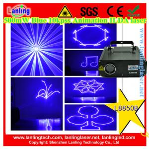 China Lanling 500mW 450nm Blue 10kpss ILDA Animation laser DJ lighting laser world show projector on sale