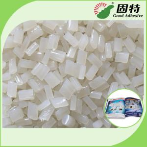 China Transarent Bookbinding Double film Coated Paper Side Glue Hot Melt Pellet EVA Hot Melt Adhesive on sale