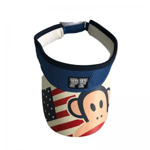 China Cotton Fabric Camouflage Sun Visor Hat With Magic Tape Buckle Novelty Deisgn on sale