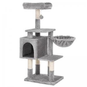 China Contemporary Songmics Cat Tree Accessories Modern Looking Multilevel 110 Cm Tall on sale