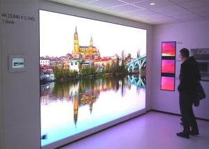China Extremely small pixel pitch 0.9mm indoor advertising led video wall screen / P0.9mm UHD high definition led panel on sale